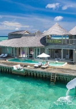 Slide into paradise at the Soneva Jani!